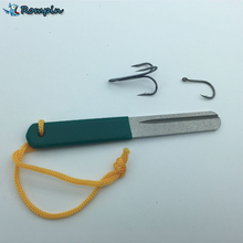 Rompin Diamond Fishing Hook Hone for treble hook Fishook Sharpening Fishing Deal with Field Sharpener Accent Instrument