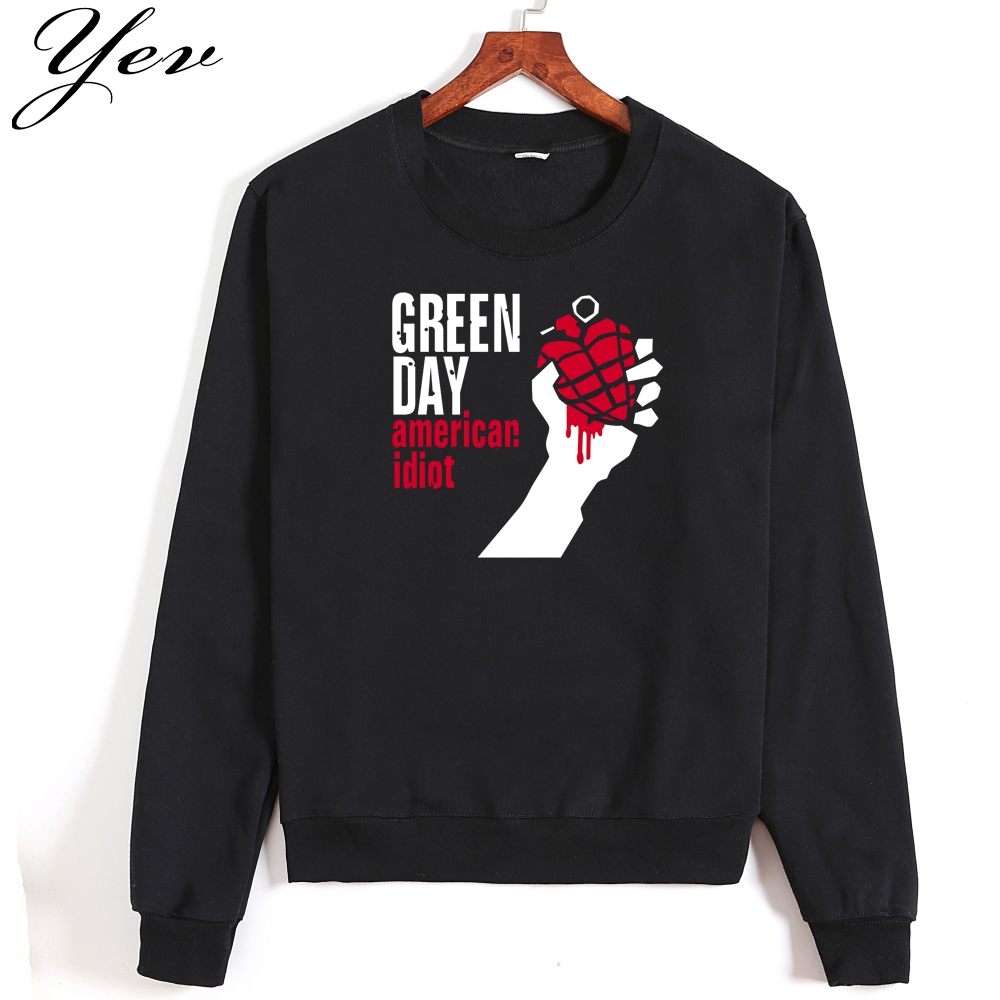 Men Sweatshirt Famous band Green Day autumn winter 2017 new fashion hoodies cool streetwear tracksuit high quality casual male