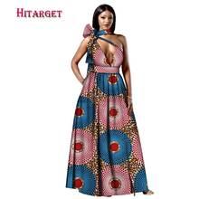 Повседневные сексуальные женские африканские платья одежда bazin