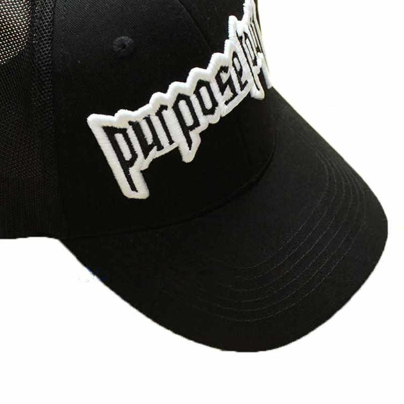 ... Good Quality Purpose Tour Embroidered Baseball Cap Vintage Retro Justin  Bieber Hat High Street Dark Tide ... 98a9ec3cec08
