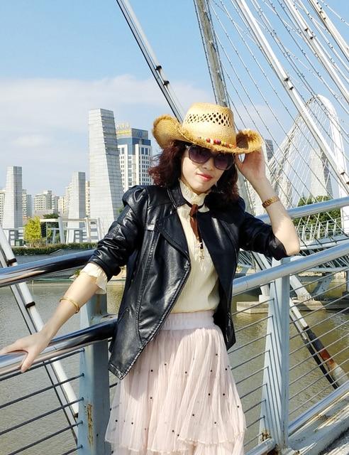 2230bff5d80 Fashion Men jazz hat Cowboys Straw Hats Best Mens Western Nature Raffia  Straw Hat New Women Cowgirls roll-up Summer Sun Caps