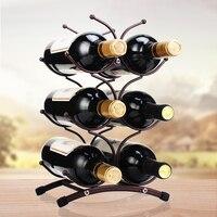 Creative Metal Wine Container Bottle Wine Holder Kitchen Bar Metal Wine Craft Christmas Gift Handcraft Display Stand Bracket1pcs