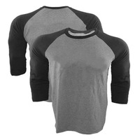 Laukexin Custom Personalized Dark Grey Black Long Sleeve Raglan T Shirts Add Your Text Logo Picture