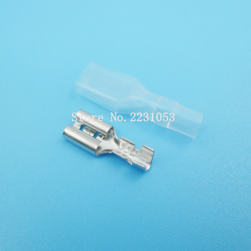 200PCS/LOT 100Sets 4.8mm Crimp Terminal Female Spade Connector Splice With Case 200pcs lot 2sa950 y 2sa950 a950 to 92 transistors