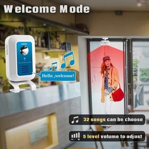 Image 4 - Kerui ワイヤレス警報システム 32 トーン歓迎/ドアベル//夜の光ホストと人フロー統計アプリ制御 wifi ドアベル