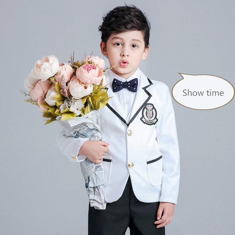 2016 new fashion baby boys kids spring autumn blazers suits boy suit for weddings children formal white dress wedding boy suits 2015 new arrive super league christmas outfit pajamas for boys kids children suit st 004