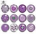 12 шт./лот, разноцветные творческие цветы, 12 созвездий, талисманы на кнопках, 18/20 мм, подходят для браслетов и браслетов «сделай сам»