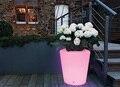 Plantpot Moree LEVOU Accu H40cm 16 cores iluminado à prova d' água Ao Ar Livre pote Lâmpada sem fio da bateria, LED brilho Ficar Balde De Gelo