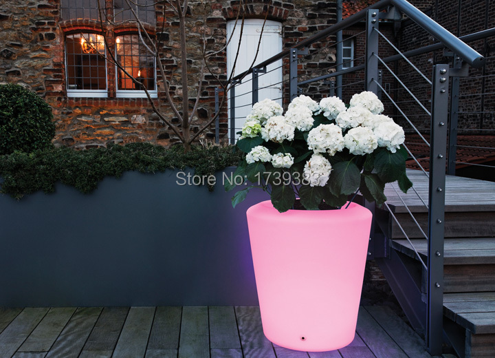 где купить Waterproof  H40cm 16 colors illuminated Moree Plantpot LED Accu Outdoor pot Lamp wireless battery,LED glow Stand Ice Bucket по лучшей цене