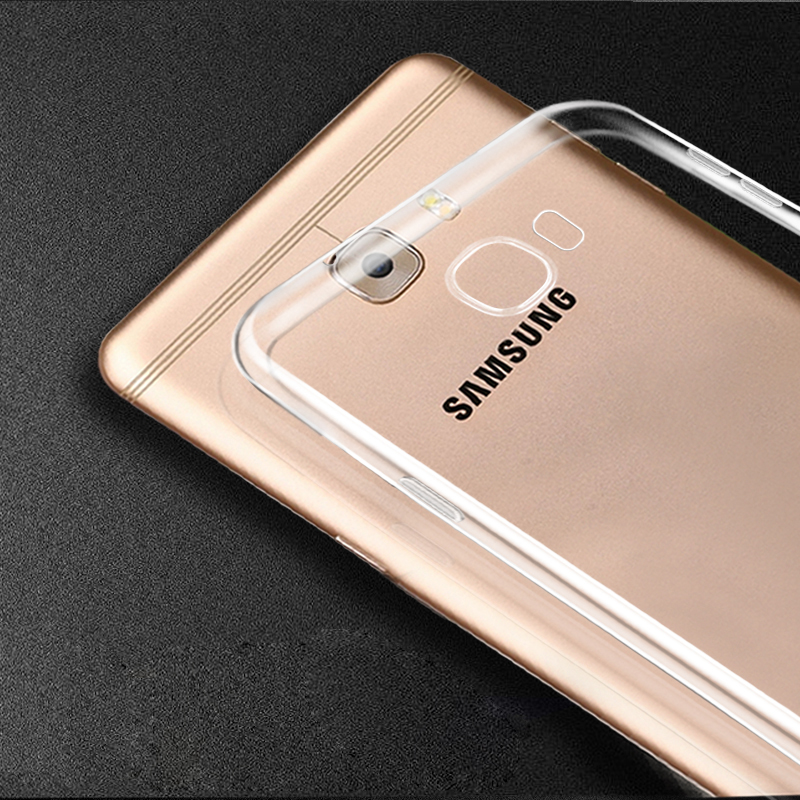 Transparent gel Clear Case For Samsung Galaxy C5 C7 Pro C10 c5000 c5010 c7000 c7010 Soft TPU phone cases(China)