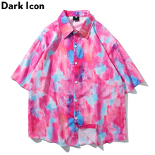 Dark Icon Hawaii Shirts Men Beach Vacation Mens Shirt Short Sleeve 2019 Summer Street