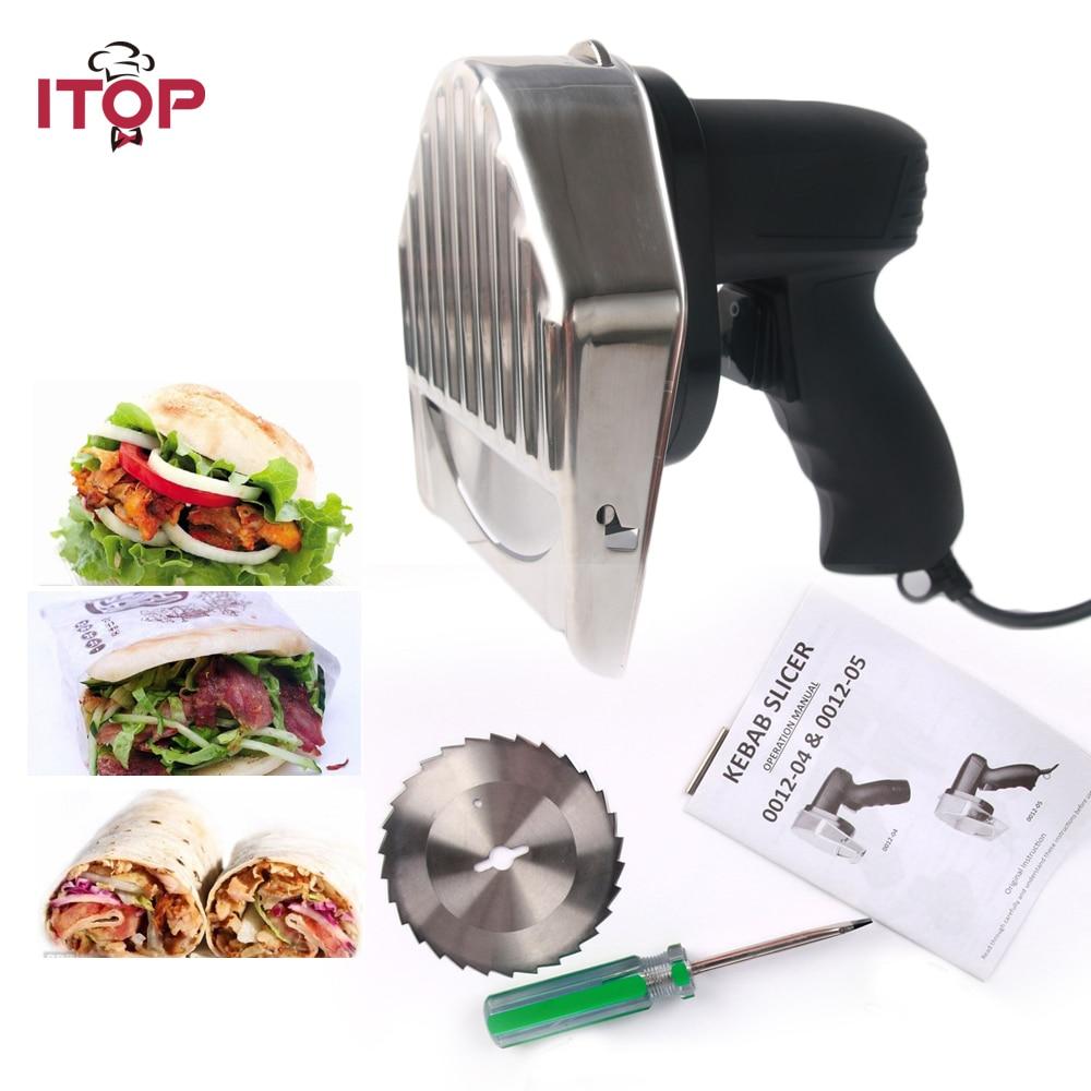 Fast Delivery! Professional Electric Shawarma Doner Kebab Knife,Kebab Slicer,Gyros Knife/Gyro Cutter +2 Blades