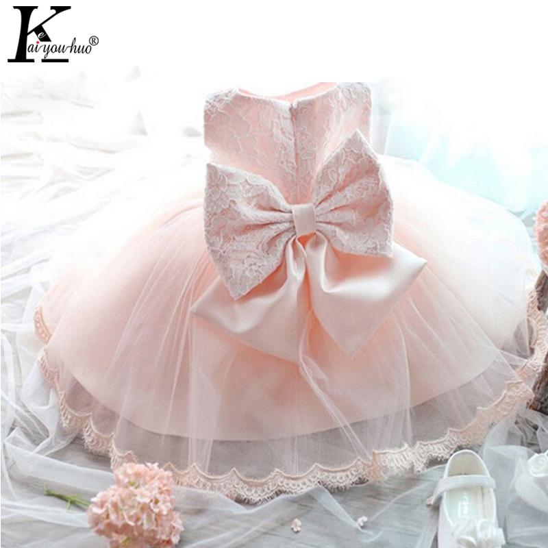 Vestido Infantil Summer Dress Baby Girls Party Dresses For Kids Lace Girls Clothes Princess Wedding Dress Bowknot Toddler Dress kids girls dresses for party and wedding 2016 summer lace flowers princess dress for girls clothes vestido pink yellow green