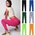 Das mulheres Super Advanture tempo Workout Leggings Doce Cor Elastic Leggings de Fitness Moda Feminina Calças Leggings Confortáveis 10
