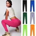 Women's Super Workout Leggings Candy Color Elastic Fitness Leggings Fashion Advanture time Female Pants Comfortable Leggings 10