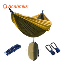 Portable Parachute Double Hammock Garden Outdoor Camping Travel Furniture Survival Hammocks Swing Sleeping Bed For 2