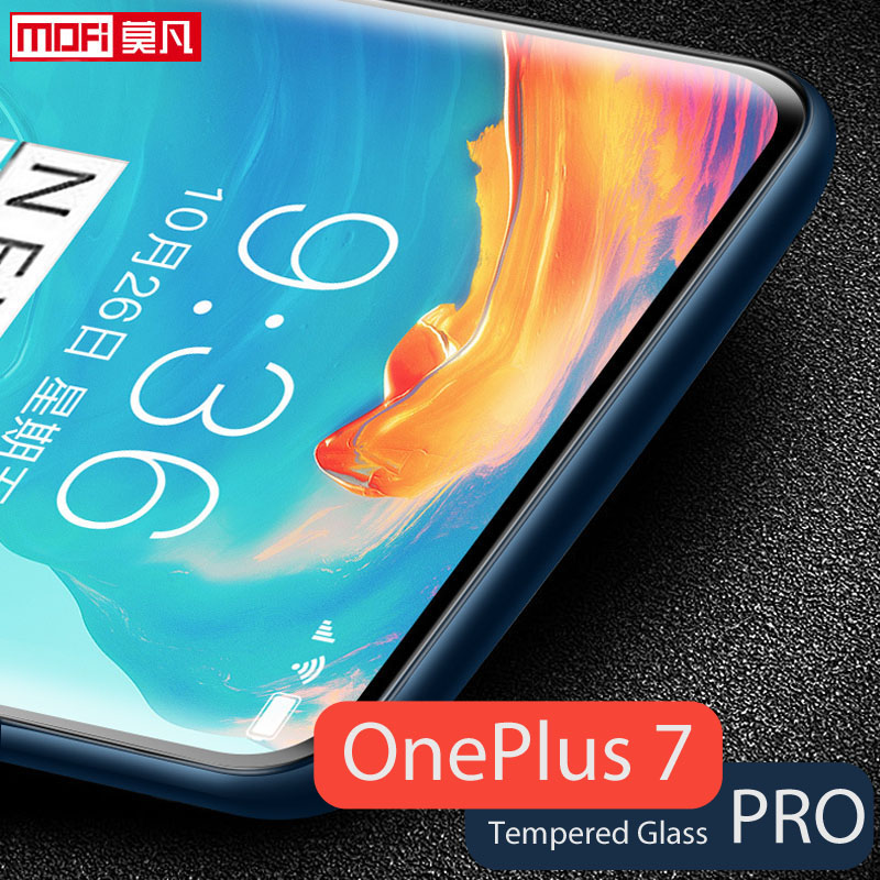 Oneplus 7 Pro screen protector mofi Oneplus 7 Pro tempered glass ultra clear front protective 9H Oneplus 7 Pro screen glass-in Phone Screen Protectors from Cellphones & Telecommunications