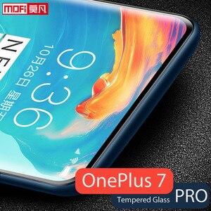 Image 2 - スクリーンプロテクター oneplus ため 7 プロフルカバー表面フィルム mofi 7 プロ強化ガラス超クリア oneplus 1 + 7 フロント保護 9H