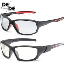 Hot Sale Photochromic Polarized Sunglasses Men Classic Pilot Metal Frame Sun Glasses Women Chameleon Day Night Driving Sunglass