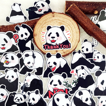 40pcs/bag Chinese Panda Animal album Scrapbook waterproof decoration stickers DIY Handmade Gift Scrapbooking sticker