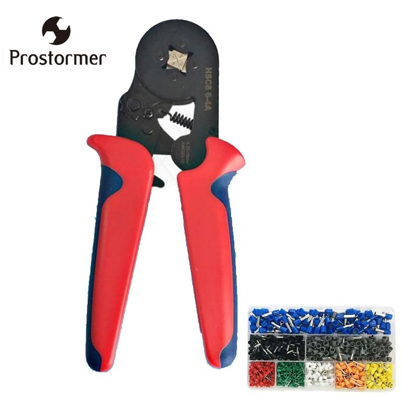 Prostormer Self-djustable Crimping Plier Mini Crimping Plier 0.25-10 mm Special Crimping Tool For Cable End Sleeve Hands Pliers 1601 01 crimping plier