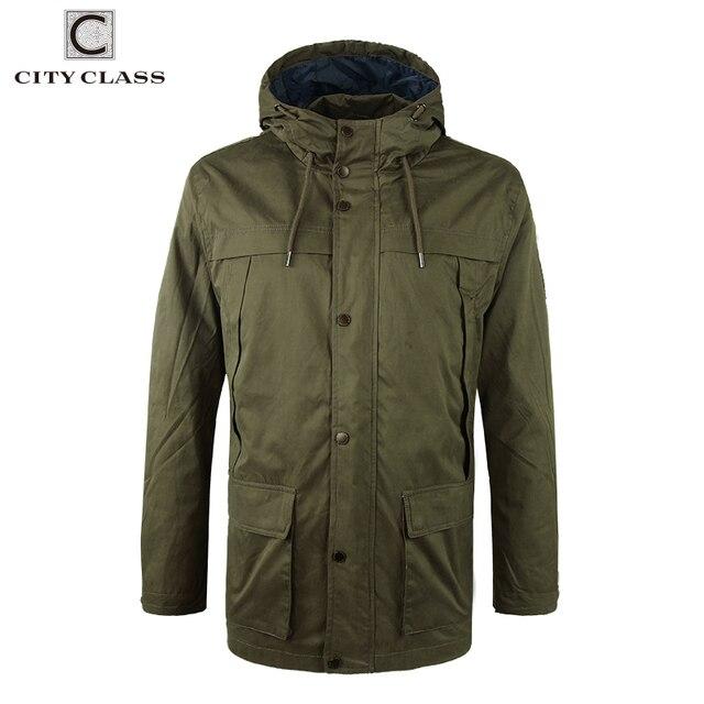 cd2d1a24765 Городской класс 2018 мужские 100% потертые хлопковые ветровки военные  свободные многоцветные куртки с капюшоном и