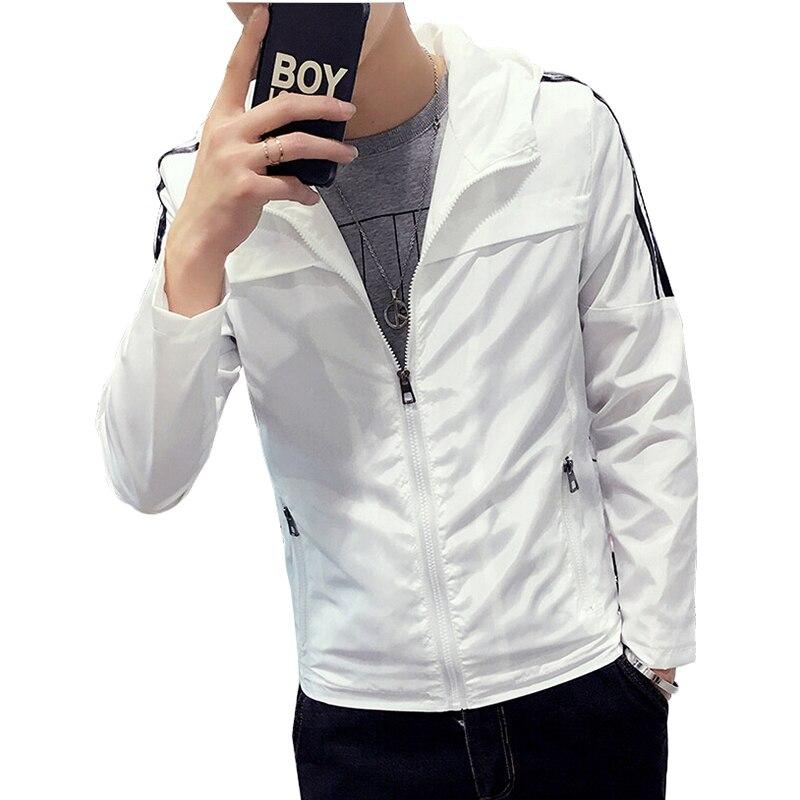 Mens White Windbreaker Jacket