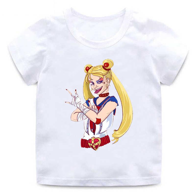 ZSIIBO Urban สาว Sailor Moon เสื้อยืดยืด kawaii อะนิเมะญี่ปุ่น O - คอนุ่มฝ้ายผู้หญิงฤดูร้อนสั้นๆ tees