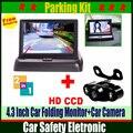 Ночного Видения Автомобильная Камера Заднего вида С 4.3 дюймов HD автомобиль Flodable Монитор Авто Парковка Помощи Системы Для Автомобиля Для Укладки Или мониторинг