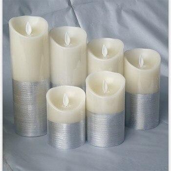 Беспламенные светодиодные свечи на батарейках, электрическая восковая мерцающая свеча светильник, свеча лампа, домашнее свадебное украшен