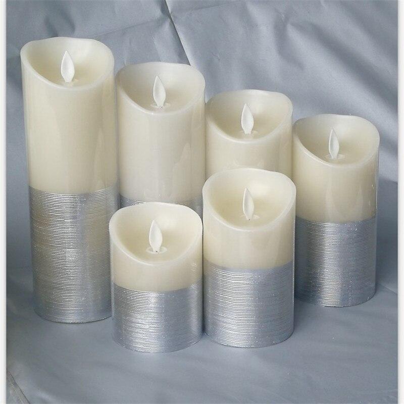 Sans flamme bougies LED à piles électrique cire bougie scintillement lumière bougie lampe maison de mariage décoration pour anniversaire