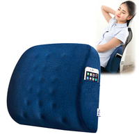 Annuona Memory Foam Velvet Back Seat Cushion Pillow For Office Home Chair Seat Massage Cushions For