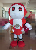 red robot mascot red robot mascot costume for adults for Halloween party