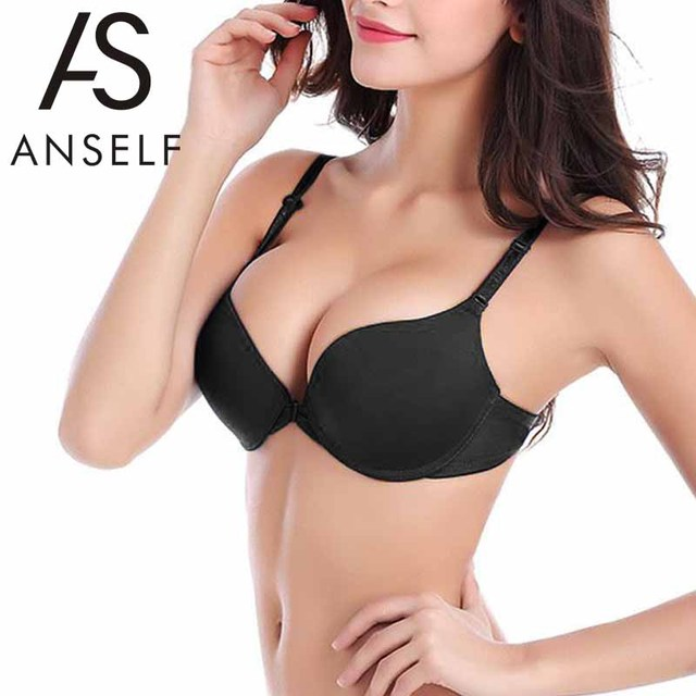 987a0ef084c ANSELF New Sexy Bras For Women B Cup Push Up Bra 3 4 Light Padded V ...