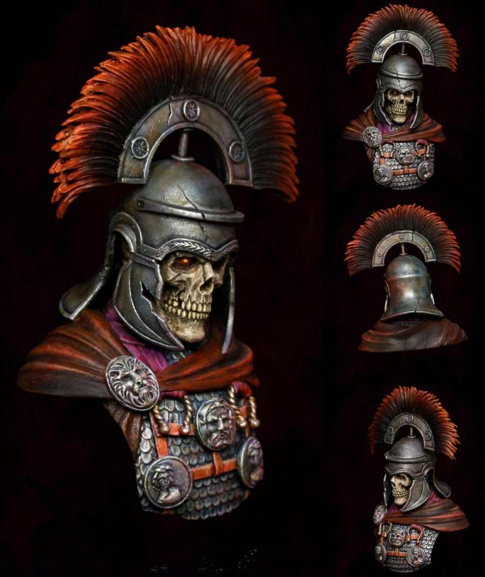 1/9 Scale Resin Bust skeleton CENTURION Unpainted Figure Model Kit Free Shipping
