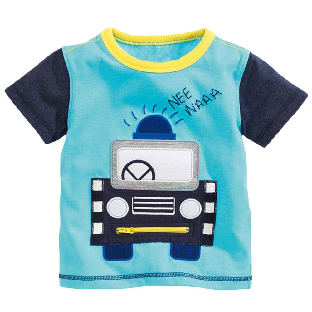 Kids Boys Cotton Tshirt Cartoon Bus 3D Print Short Sleeve T-shirt Children Casual Tee Tops Clothes Kids T Shirts