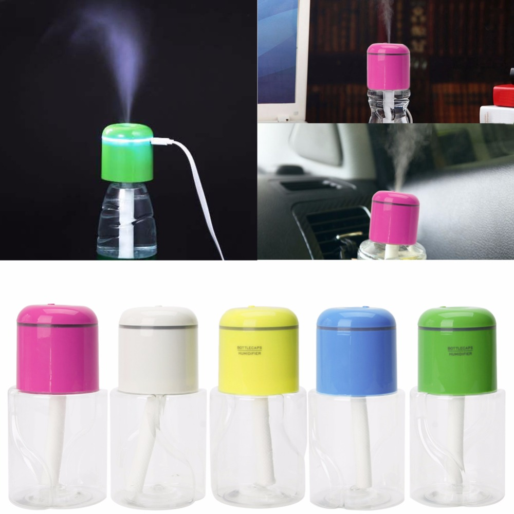180ML Bottle Cap Mini Humidifier With Bottle USB Electric Mist Make With LED Light