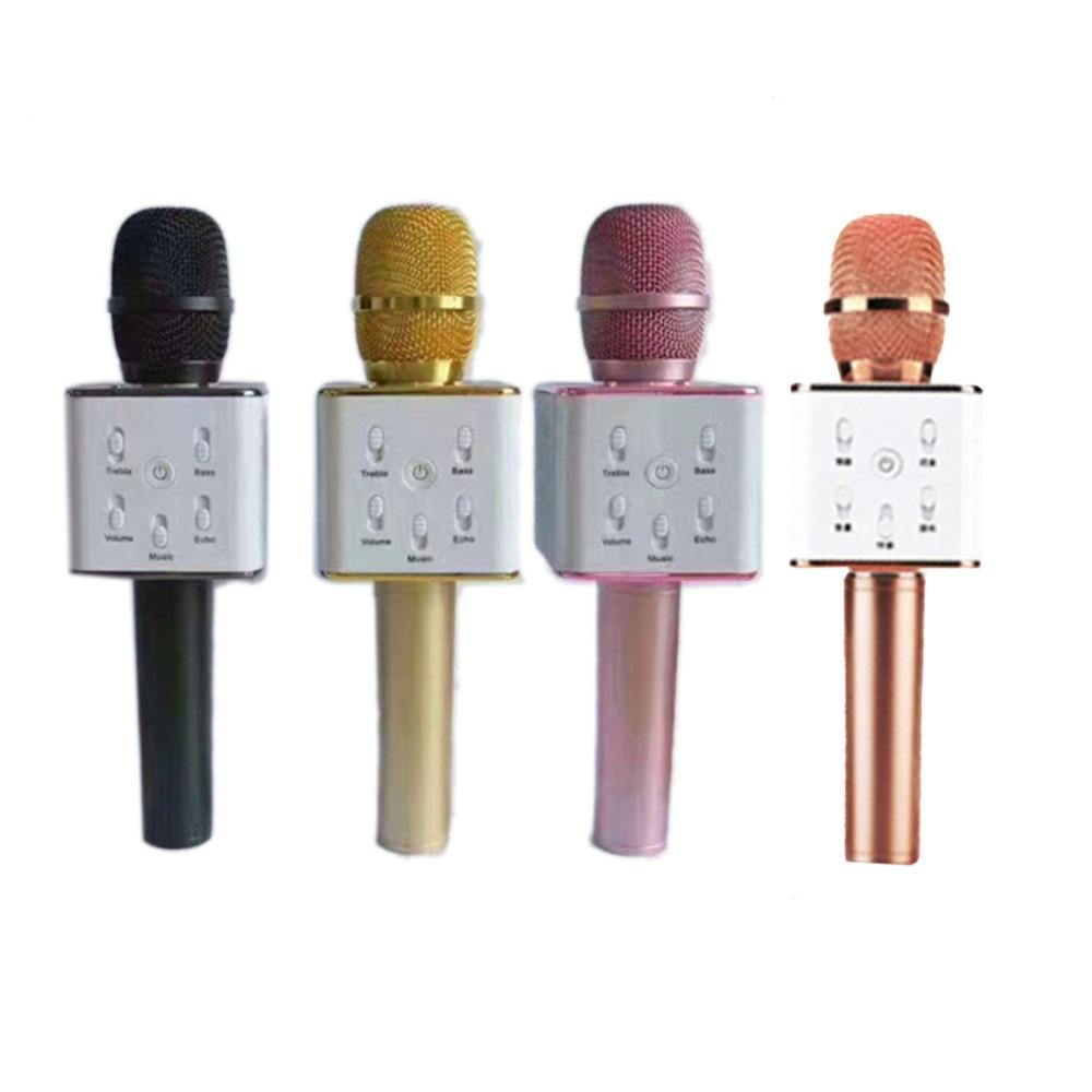 Q7 Microfono Palmare Senza Fili di Bluetooth KTV Con Altoparlante Mic Microfono Portatile Per Il iphone Smartphone Portatile Karaoke Player