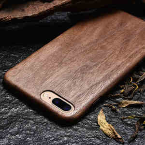 Image 2 - For Apple iPhone 6 6s Plus /7 /8 Plus SE2 2020 walnut Enony Real Wood Rosewood Wenge Apricot MAHOGANY Wooden Back Case Cover