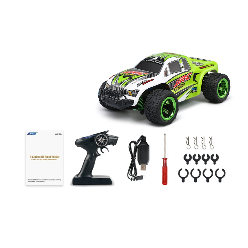 JJR/C Q35 1/26 Scale 2.4Ghz 4WD 30km/h High Speed RC Bigfoot Off-Road Electric RC Remote Control Racing Car Truck Model RTR Toy hongnor ofna x3e rtr 1 8 scale rc dune buggy cars electric off road w tenshock motor free shipping