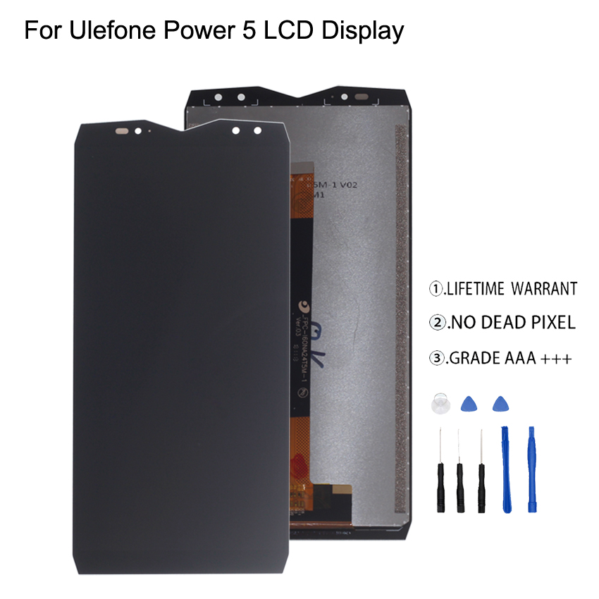 Original For Ulefone Power 5 LCD Display Touch Screen Digitizer Assembly For Ulefone Power 5 Display