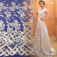 2018 New African guipure lace fabric  high quality fashion french for wedding