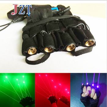 Z 532nm 80mw Green/Red/Purple Laser Glove 4 pcs Laser Stage Laser Show Props LED Dance DJ Club Chiristmas Gloves Right/Left Hand