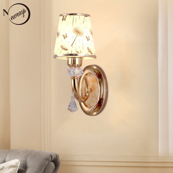 Modern plated metal glass crystal novel wall Lamp LED E27 220V bright Wall Lights for living room bedroom restaurant hotel cafe