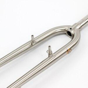 "Image 3 - SILVEROCK   MTB Bike Rigid Fork 27.5"" 26"" 29er Reynolds 520 Steel CX Cyclocross Bike Fork Disc V Brake Rustproof Bicycle Parts"