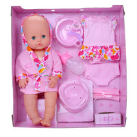 40cm Reborn Baby Doll Playsets For Children Reborn Tollder Dolls Play Home Toy Baby Born Interactive Doll
