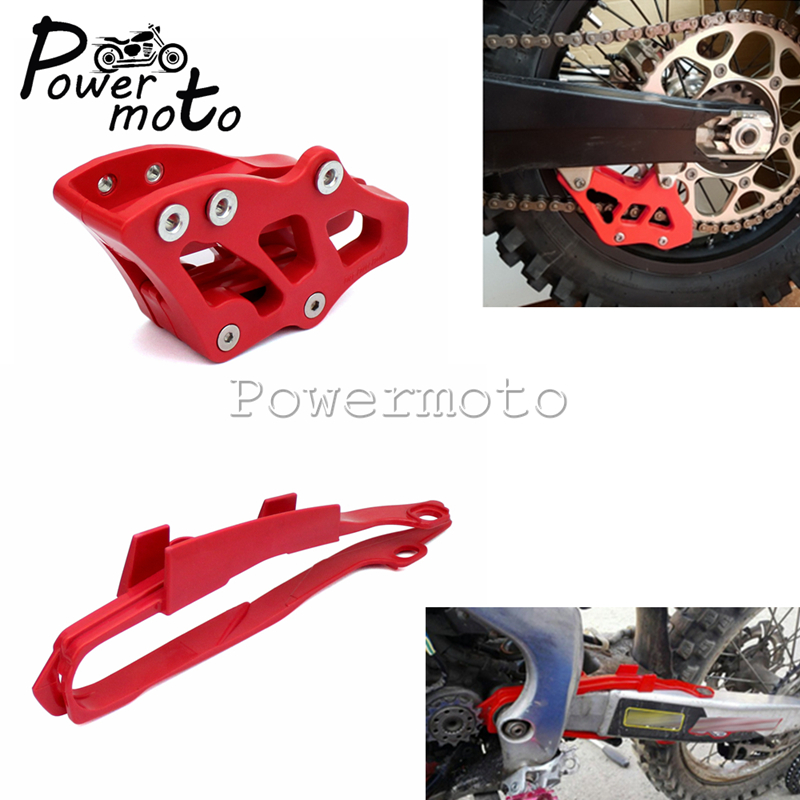 Motorcycle Red Chain Guide Guard Protector And Swingarm Chain Slider Guard For <font><b>Honda</b></font> CR <font><b>CRF</b></font> 125 250 <font><b>450</b></font> R X 00-07 2005-2007 image