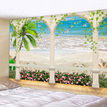 Beautiful Beach Scenery Print Wall Tapestry Cheap Hippie Wall Hanging Art Carpet Bohemian Decorative Living Room Big Blanket