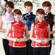 Free shipping Tang suit lady Ethnic Clothing chinese traditional clothes  vest for women chinese traditional vest 5291d337320a