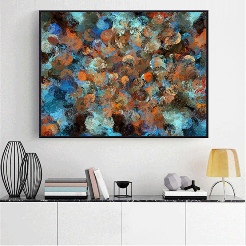 Haochu Single Colorful Modern Abstract Oil Paintings Hand Painted Wall Art Poster No Frame Cuadros Home Decor Leather Bag